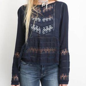 NWT SouthMoonUnder Crochet Insert Top XS